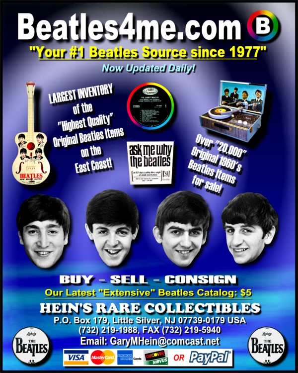 Rare Beatles Records available on our website.  Click here to view!
